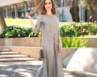 SIlver or Gold Maxi Dress