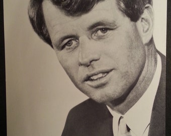 1968 Robert Kennedy Presidential Photo Campaign Flyer Never Circulated N O S