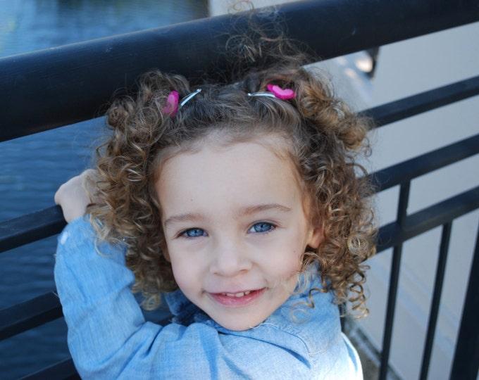 Girls Pink Heart Hair Clip Set - Heart Hair Clips - Felt Heart Hair Clips - Girls Hair Clips -Baby Girl Hair Clips-Kids Hair Clips
