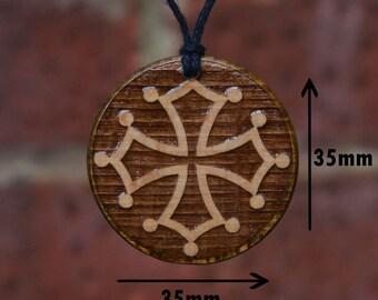 Catharism cross (Christian Cross)-Pendant/Necklace, Handmade Gift. Amulet-Talisman.