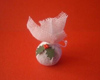 Dolls House Miniature Christmas Pudding - Handmade