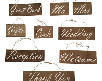 Super Set Rustic Wedding Wooden Signs Upcycled Barn Wood Wedding Sign, Country Wedding, Cottage, Farm Decor, Reclaimed