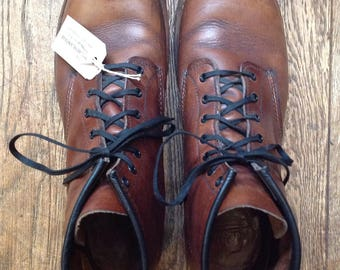 Vintage brown leather Red Wing 9016 Beckman dress boots Cigar Featherstone US 12 UK 11
