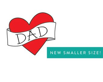 funny birthday gift for dad temporary tattoo SMALLER SIZE birthday fake tattoo red black tattoo photographer photoshoot prop red heart