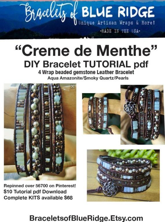 TUTORIAL DIY 'Creme de Menthe' 4 Wrap Bracelet Intermediate/Ambitious...