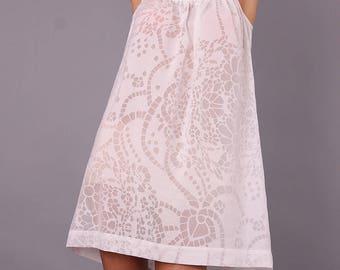 Nightdress, Night gown, bedgown, sleepwear, lounge wear, home wear, camisón, casual wear, plus size nightgown, UrbanMood, UM-ND02-CO