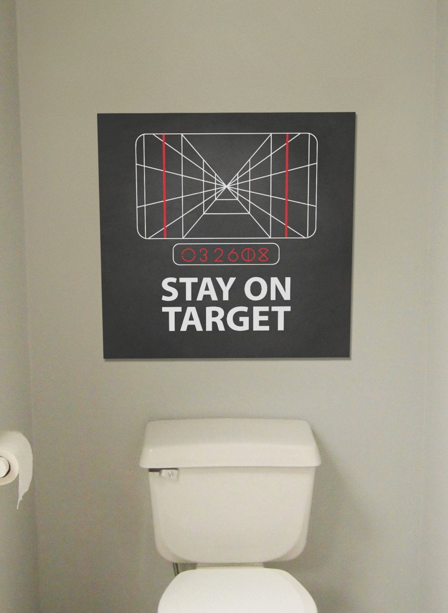 Stay On Target! Poster  Star Wars Artwork