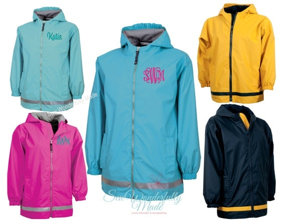 Youth Rain Jacket 6 Colors for Boys and Girls Charles