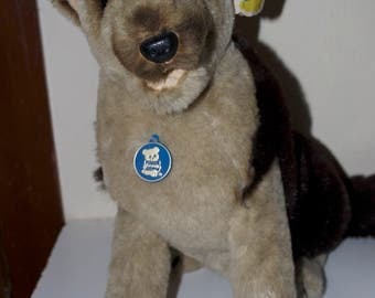 "Dakin German Shepherd Max PillowPets 17"" Stuffed Plush Animal Vintage"