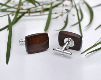 Gidgee Wood Cufflinks - Father of Bride, Birthday, Wedding, Groomsmen, Groom, Anniversary, Jewellery, Bridal Party