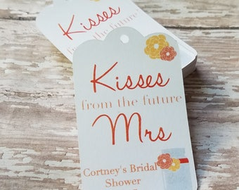 Kisses from the Future Mrs. Tag, Kisses Party Favor, Bridal Shower Favor, Wedding Tag, Bridal Shower Tag, Thank You Tag, Fall, Summer (064)