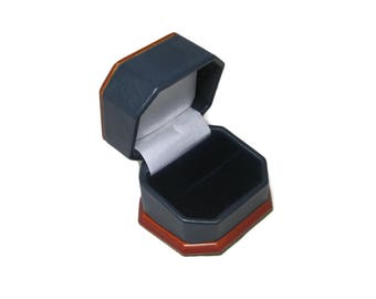 Blue and Redwood Engagement Ring Box