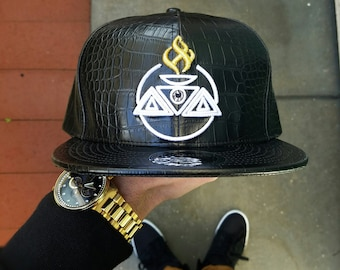 Pyramids & Crowns x BornIMusic x Rage Nation Collaboration // Leather Strapback Hat