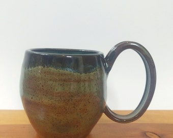 Bubble Mug in Sage and Pine #2