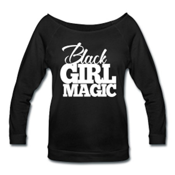 Black Girl Magic Off Shoulder T-shirt - Black