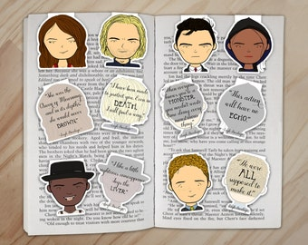 Six of Crows Magnetic Bookmarks Set - Kaz Brekker and the Dregs Clips