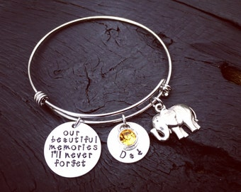 Our Beautiful Memories I'll Never Forget Alzheimer's Memorial Bracelet © | Alzheimer's Memorial Jewelry | Alzheimer's Sympathy Gift