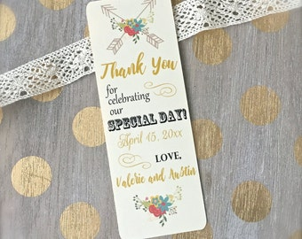 Bookmark wedding favor thank you bookmarks wedding favors