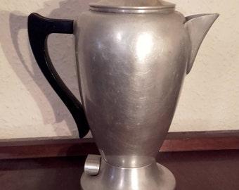 vintage percolator vintage 1950 s mid century mirro percolator coffee pot made in the usa