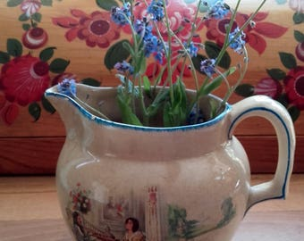 Vintage 1920's ''Nell Gwyn'' Made by Parrott & Co Burslem small Pitcher large creamer Julia Neilson Fred Terry
