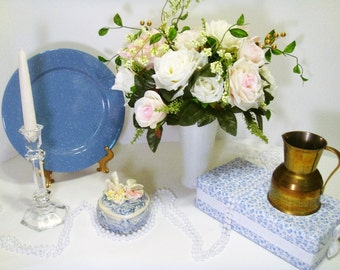 Table Settings for Weddings, Vintage Wedding Centerpieces, Blue Bridal Decor, Blue and Blush Wedding Tables, Table Decor for My Special Day