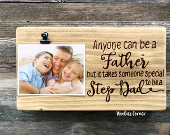 Step dad gift, Step Dad picture frame, Fathers day gift, Gift for step dad, Step father gifts, Dad picture frame, Step fathers day gift