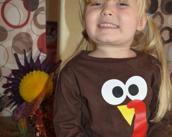 Thanksgiving Turkey Toddlers or Kid's T-Shirt - Turkey Shirt - Turkey Day - Gobble Gobble - Cute Thanksgiving Shirt - My First Thanksgiving