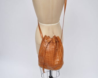 vintage cross body bag woven leather purse handbag tote
