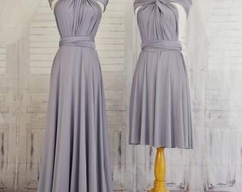 Lilac grey  Infinity Dress Convertible Formal,wrap dress ,bridesmaid dress,party dress Evening dress B11#C11#