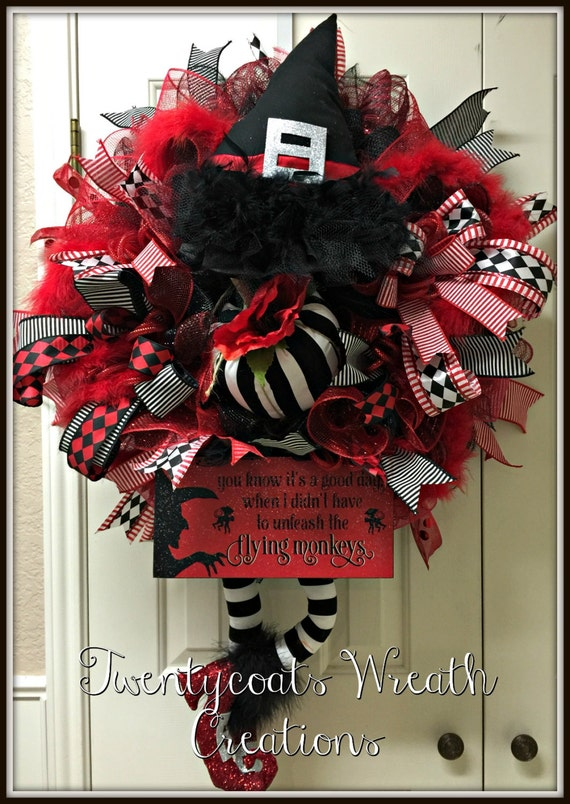 Wicked Witch of the East Halloween wreath