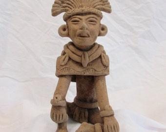 Figurine, Statue, Ceramic Art, Inca/Mayan, Tribal, Hand Crafted