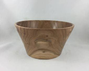 Hand Turned Wooden Manitoba Elm Bowl