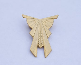 Retro 60s Gold Plated Art Deco Brooch // Genuine 1960s Vintage Costume Jewellery Brooch // Made in England // Art Deco Jewellery Gift Idea