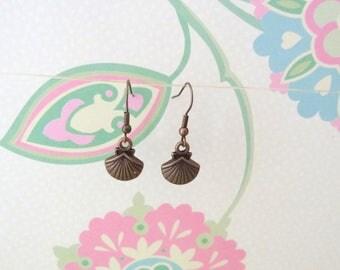 Bronze Shell Charm Earrings - Ready to Ship