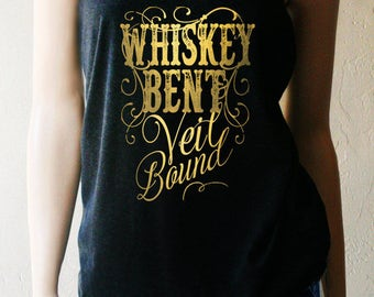 Whiskey Bent and Veil Bound Bachelorette Tank Top. Bachelorette Shirts.  Bridal Party Shirts. Bridesmaid Shirts. Wedding Shirts.