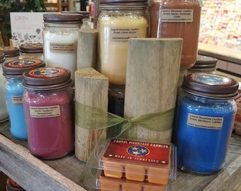 Laurel Mountain Mason Jar Candles 16 oz