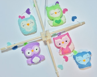 Baby mobile / Owl mobile / Baby room decor / Modern Nursery mobile / Natural nursery decor / Owl Themed Nursery Decor / Owl Themed Nursery /