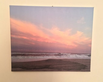 Photograph Canvas Beach Sunset Sky