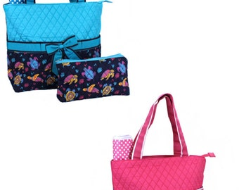 DIAPER BAGS --Cute Sea Turtle / Monogrammed / SALE--Save 4 Dollars - While They Last!