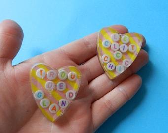 Cute little heart brooch