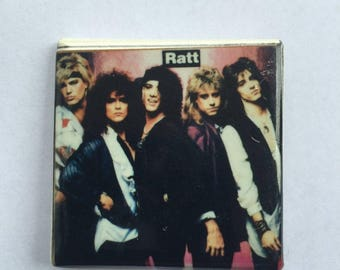 Ratt Original 1980s Vintage Dead Stock Square Pin