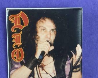 DIO Metal Band Original 1980s Vintage Dead Stock Square Pin