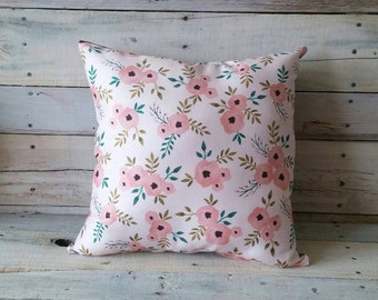 Flower Pillow, Spring Pillow, Pillow Cover, Decorative Pillow, Throw Pillow