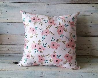Flower Pillow, Spring Pillow, Pillow Cover, Decorative Pillow, Throw Pillow
