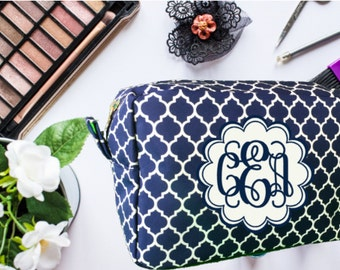 Makeup Bag, Cosmetic Bag, Personalized Makeup Bag, Bridesmaid Gift, Birthday Gift, Monogrammed Makeup Bag, Mother's Day Gift, Toiletry Bag