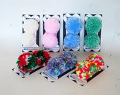Dog Hair Bows - Dog Pom Pom Hairbows - Set of 2 - Dog Grooming Bows - Dog Accessories - Holiday Dog Bow