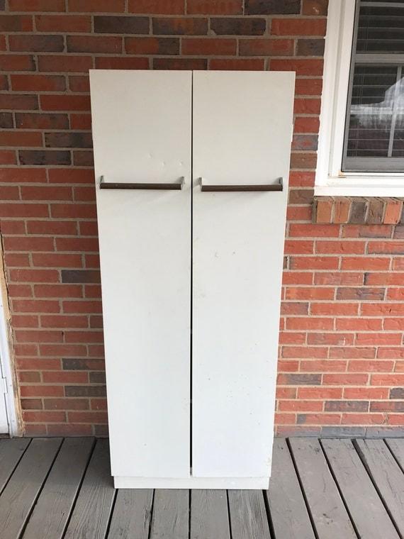 Like this item? - Vintage White Metal Kitchen Pantry Cabinet Storage Closet