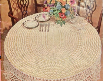1960s  Crochet Tablecloths & Bedspreads Vintage Small Book Leaflet American Thread Star Book 224