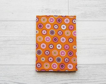 Retro Flowers Fabric Passport Holder, Dotty Fabric Passport Cover, Travel Accessories, Gifts For Her, Travel Wallet, Teacher Gifts