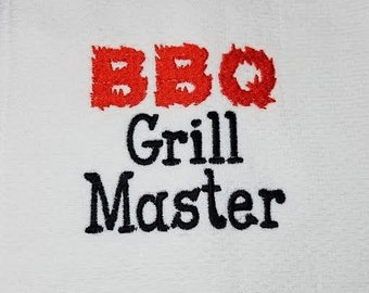 BBQ Grill Master  - Machine Embroidery Design - 4x4 Instant Digital Download File